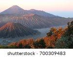 blurred volcano background | Shutterstock . vector #700309483