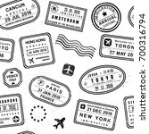 travel background   passport... | Shutterstock .eps vector #700316794