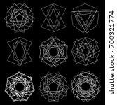 cosmic geometry astrological... | Shutterstock .eps vector #700321774