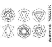 cosmic geometry astrological... | Shutterstock .eps vector #700321990