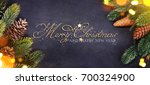 christmas and new year s... | Shutterstock . vector #700324900