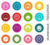 speedometer icons many colors... | Shutterstock .eps vector #700325434