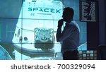 supervisor man standing near... | Shutterstock . vector #700329094