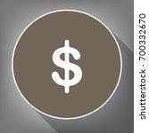 dollars sign illustration. usd...   Shutterstock .eps vector #700332670