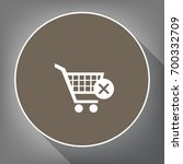 shopping cart with delete sign. ... | Shutterstock .eps vector #700332709