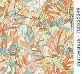 tracery seamless pattern.... | Shutterstock .eps vector #700335349