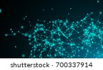 abstract connection dots.... | Shutterstock . vector #700337914
