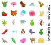 milieu icons set. cartoon set... | Shutterstock .eps vector #700339813