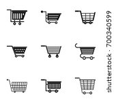 supermarket cart icon set.... | Shutterstock .eps vector #700340599