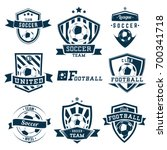 set of soccer football logos ...   Shutterstock .eps vector #700341718