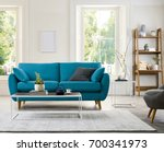 contemporary living room with... | Shutterstock . vector #700341973
