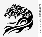 wolf head tattoo design isolated | Shutterstock .eps vector #700344424