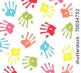colorful handprint | Shutterstock .eps vector #70034752