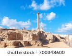 pompey's pillar and ancient... | Shutterstock . vector #700348600