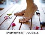 feet in a fresh setting - stock photo