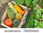Box With Fresh Pumpkins And...