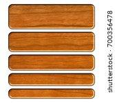 wooden set of rounded corner... | Shutterstock . vector #700356478