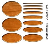 wooden set of oval or ellipse... | Shutterstock . vector #700356496