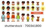 set of african american ethnic... | Shutterstock .eps vector #700361800