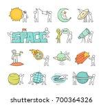 cartoon icons set of sketch... | Shutterstock .eps vector #700364326