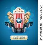 online cinema art movie... | Shutterstock .eps vector #700365724