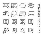 chat box conversation talk line ... | Shutterstock .eps vector #700367764