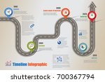 business road map timeline... | Shutterstock .eps vector #700367794