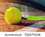 tennis ball on a tennis court | Shutterstock . vector #700379248