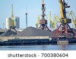 loading of coal in the... | Shutterstock . vector #700380604