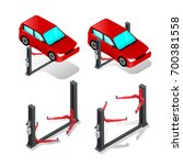 car lift  device for raising... | Shutterstock .eps vector #700381558