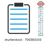 list page icon with bonus... | Shutterstock .eps vector #700383103