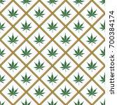 repeating marijuana leaf of... | Shutterstock .eps vector #700384174