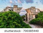 the temple of ixchel at beach... | Shutterstock . vector #700385440