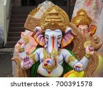 indian hindu god lord ganesha... | Shutterstock . vector #700391578