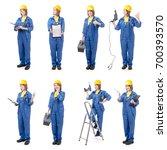 construction female worker ... | Shutterstock . vector #700393570