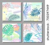 set of artistic colorful... | Shutterstock .eps vector #700397449