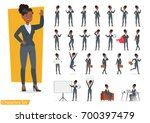 businesswoman working character ... | Shutterstock .eps vector #700397479