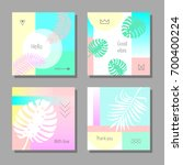 set of artistic colorful... | Shutterstock .eps vector #700400224