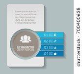 vector infographic template for ... | Shutterstock .eps vector #700400638