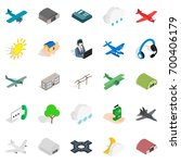 landing icons set. isometric... | Shutterstock .eps vector #700406179