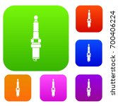 car candle set icon in... | Shutterstock .eps vector #700406224