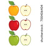 Vector Set Of Apples. Vector...