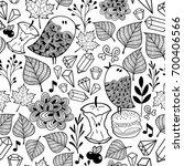 black and white endless... | Shutterstock .eps vector #700406566