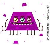 geometric monster  purple... | Shutterstock .eps vector #700406764