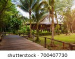 traditional wooden houses and... | Shutterstock . vector #700407730