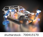 3d rendering  car frame and... | Shutterstock . vector #700415170
