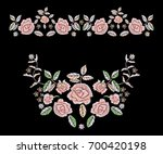 embroidery tribal pattern with... | Shutterstock .eps vector #700420198