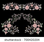 embroidery folk pattern with... | Shutterstock .eps vector #700420204