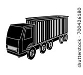 a large truck for the transport ... | Shutterstock .eps vector #700426180