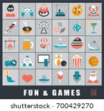 set of premium quality fun and... | Shutterstock .eps vector #700429270